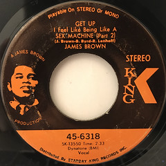 JAMES BROWN:GET UP I FEEL LIKE BEING LIKE A SEX MACHINE(LABEL SIDE-B)