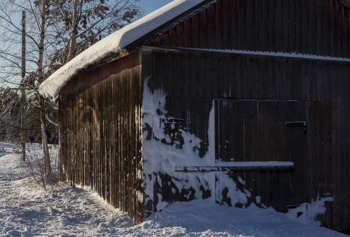 Lähiseutumatkailu vanha lato talvi rakennus
