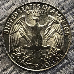 Counterfeit 1982 Washington Quarter reverse