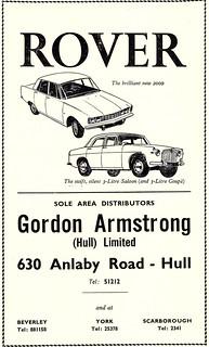 1966 ADVERT - GORDON ARMSTRONG HULL LTD 630 ANLABY ROAD HULL