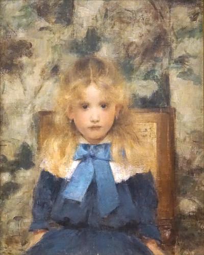 Portrait d'enfant de Fernand Khnopff (Petit Palais, Paris)