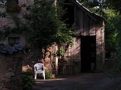 20080910 34451 1011 Jakobus Haus Stuhl Leiter Idylle_K