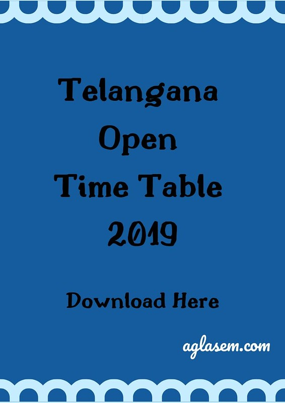 Telangana Open Time Table 2019
