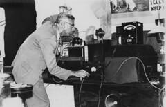 Conducting experimental television broadcasting, Brisbane, ca. 1934