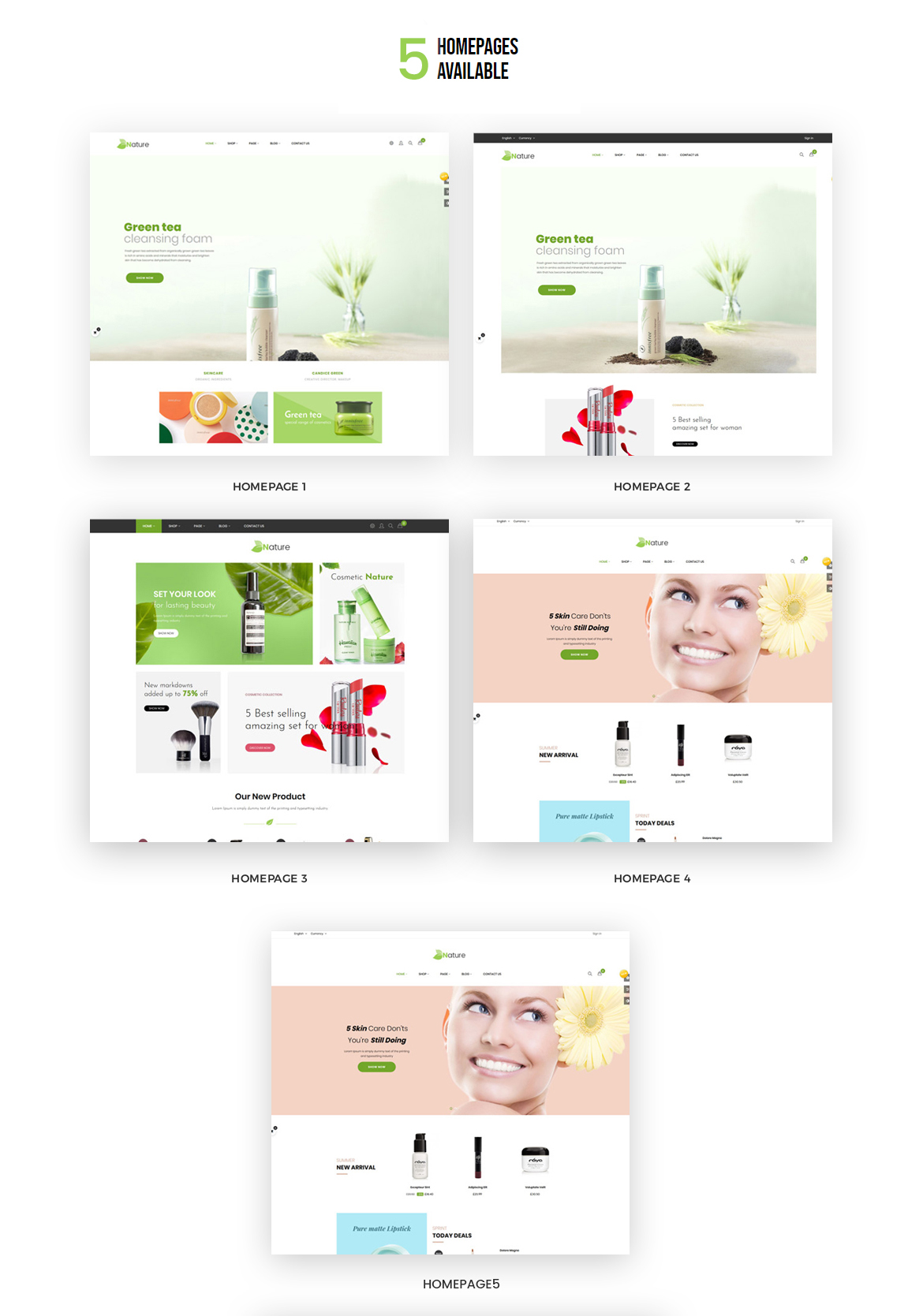 multi-hompage - Bos Nature - Skin Care and Beauty Spa