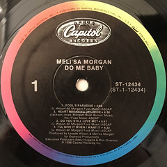 MELI'SA MORGAN:DO ME BABY(LABEL SIDE-A)