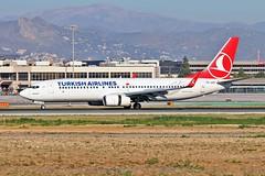 TC-JVP Boeing 737-8F2 Turkish Airlines AGP 07-02-19