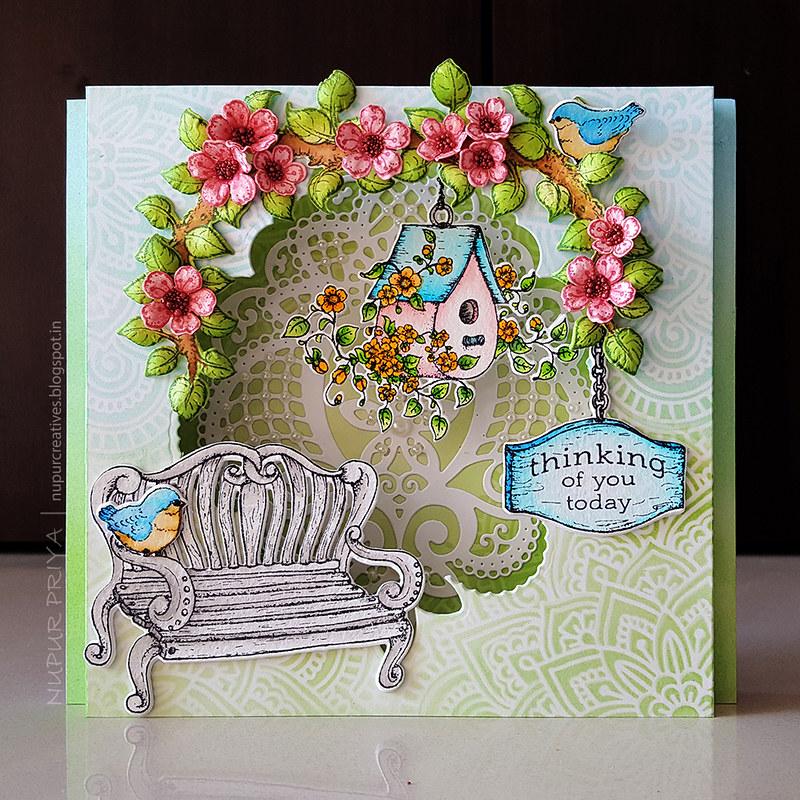 Cherry Blossom Box Card 1_Nupur Creatives