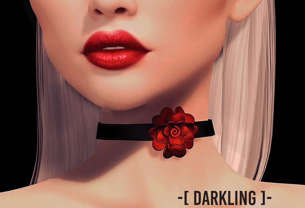-[ darkling ]- Rose Choker @Shiny Shabby