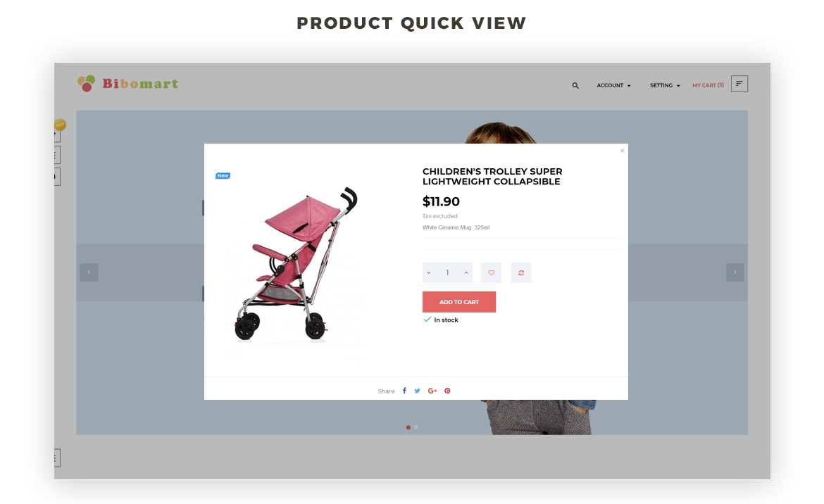 Product quickview-Leo Bibomart Prestashop theme for Baby and Kid Store