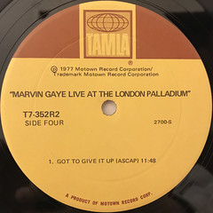MARVIN GAYE:LIVE AT THE LONDON PALLADIUM(LABEL SIDE-D)