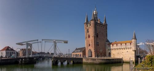 Panorama Zuidhavenpoort Oude Haven Zierikzee