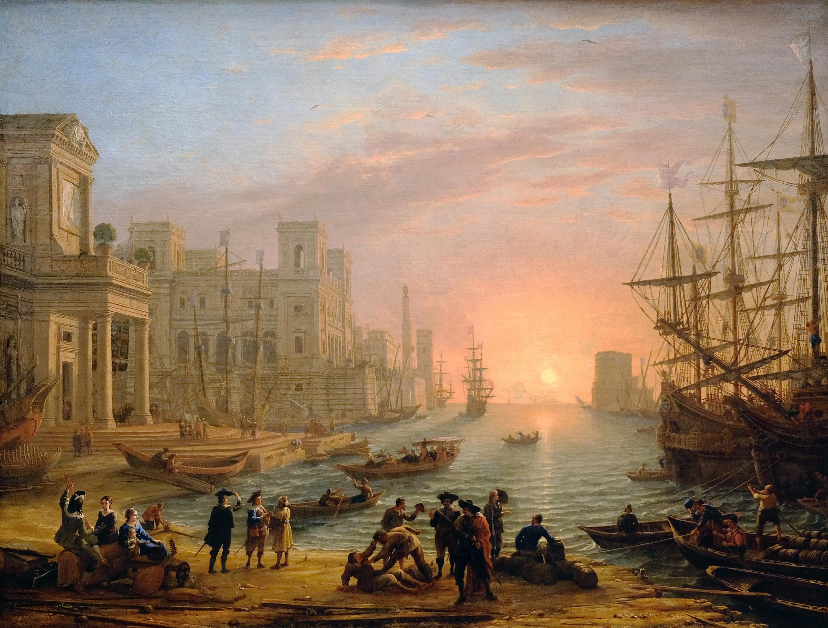Port de mer au soleil couchant (Seaport at Sunset) by Claude Lorraine, 1639.