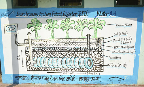Evapotranspiration community toilet design. (Source: India Water Portal)