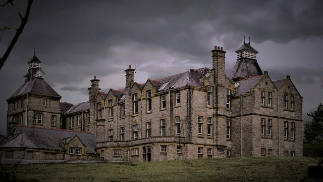 Within these walls! Lunatic Asylum at Denbigh Clwyd North Wales Walk 185
