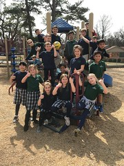 Mrs. Christian's class hanging around outside