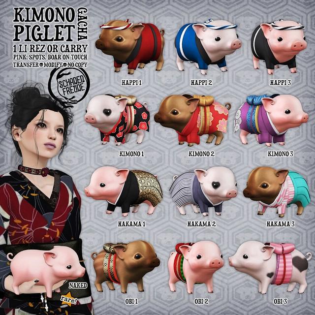 kimono piglets