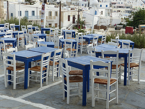 tables bleues