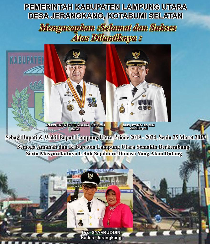 Kades Jerangkang: Selamat Atas Dilantiknya Bupati & Wakil Bupati Lampung Utara Priode 2019-2024