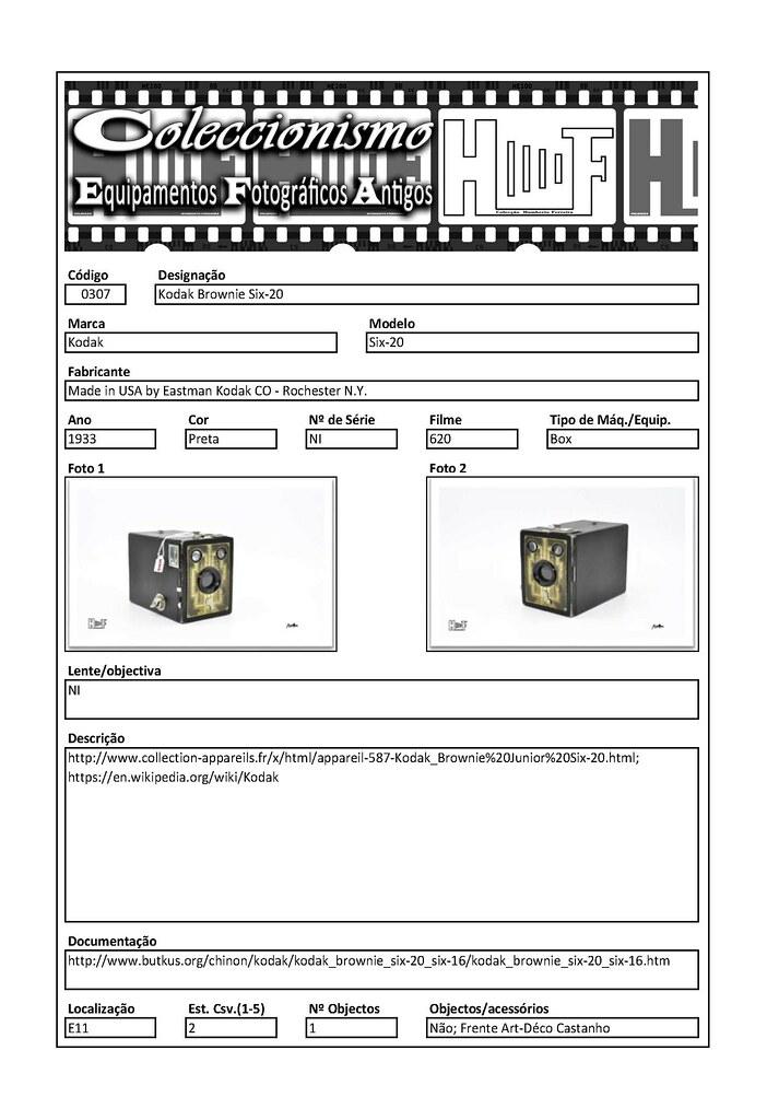 Inventariação da colecção_0307 Kodak Brownie Six-20
