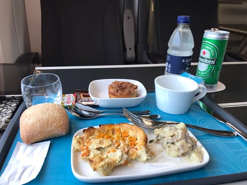 Lunch on the Eurostar - somewhere in France