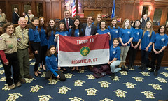 Rep. John Frey was proud to join Ridgefield's Scout Troop 19, and other Scout Troops, during the 2018 Boy Scouts of America Report to the State at the Capitol.
