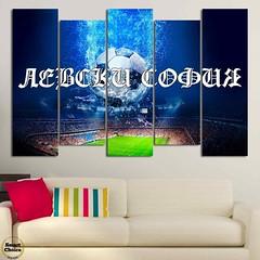 Декоративно пано за стена от 5 части с Левски София - отборът на народа. Вариант 1 - HD-884