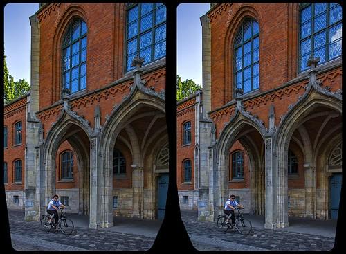 Gymnasium Martineum Halberstadt / Kreuzblick 3-D / Stereoskopie