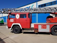 Vehículo auto escala automática, Magirus-Deutz Iveco, de los Bomberos de Jaén.