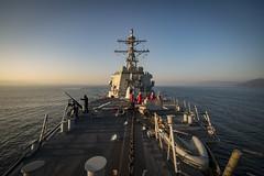 USS Donald Cook (DDG 75) transits the Dardanelles Strait.