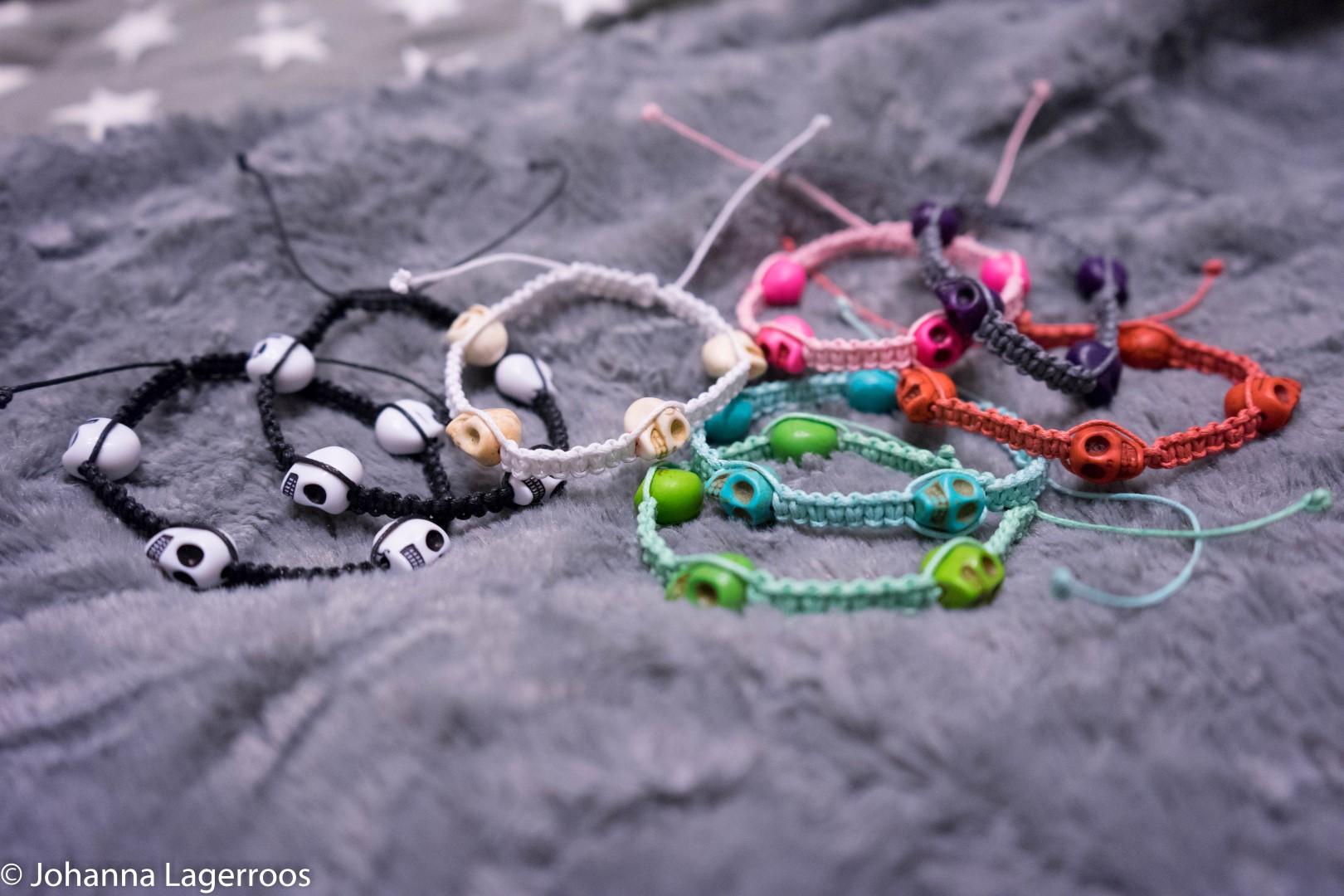 diy skull bracelets