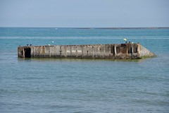 A Remaining Caisson from the Mulberry Harbour