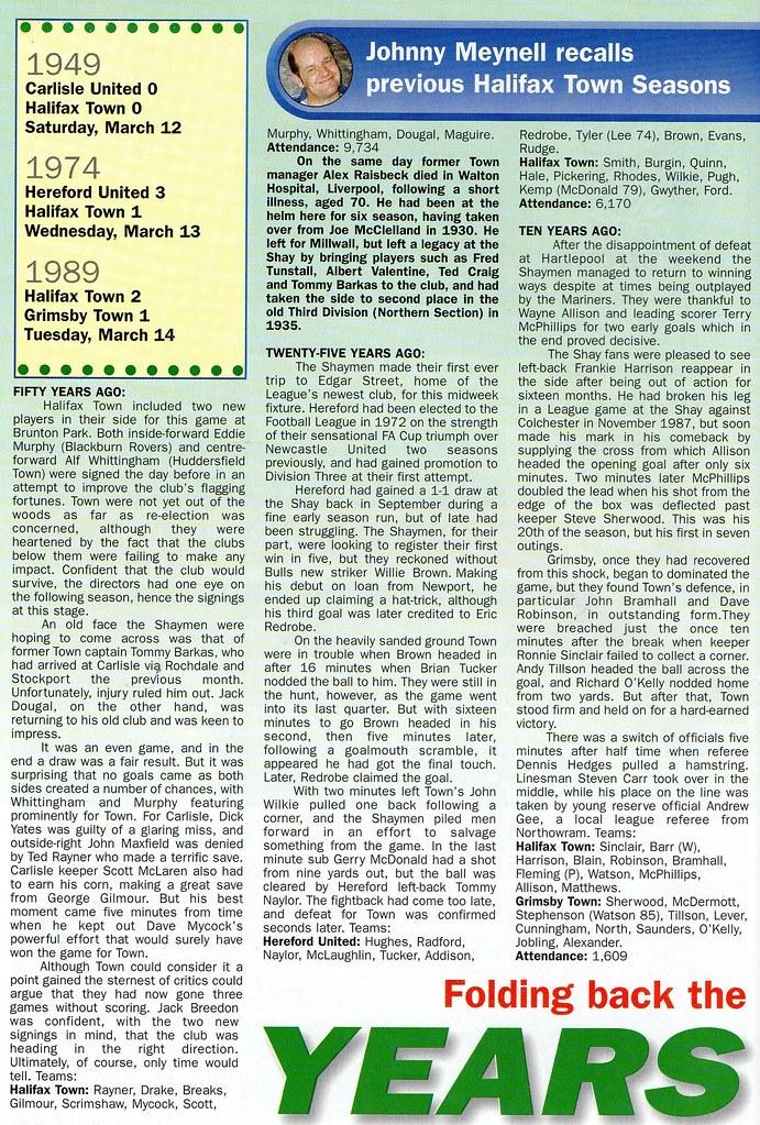 (Programme) 13-03-1999 Halifax Town 1-0 Carlisle United 5