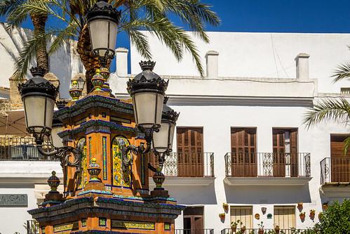 Spain - Cadiz - Vejer - Plaza de España