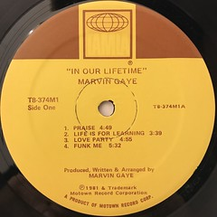 MARVIN GAYE:IN OUR LIFETIME(LABEL SIDE-A)