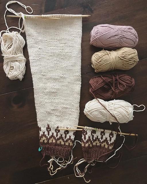 A Starfall sweater is happening... 💫#knitting #starfallsweater #sweaterknitting