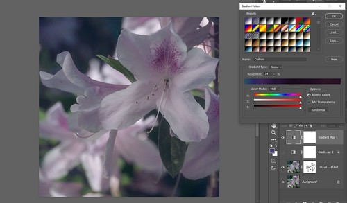 Screenshot of Blue-Purple Gradient Map for Azalea