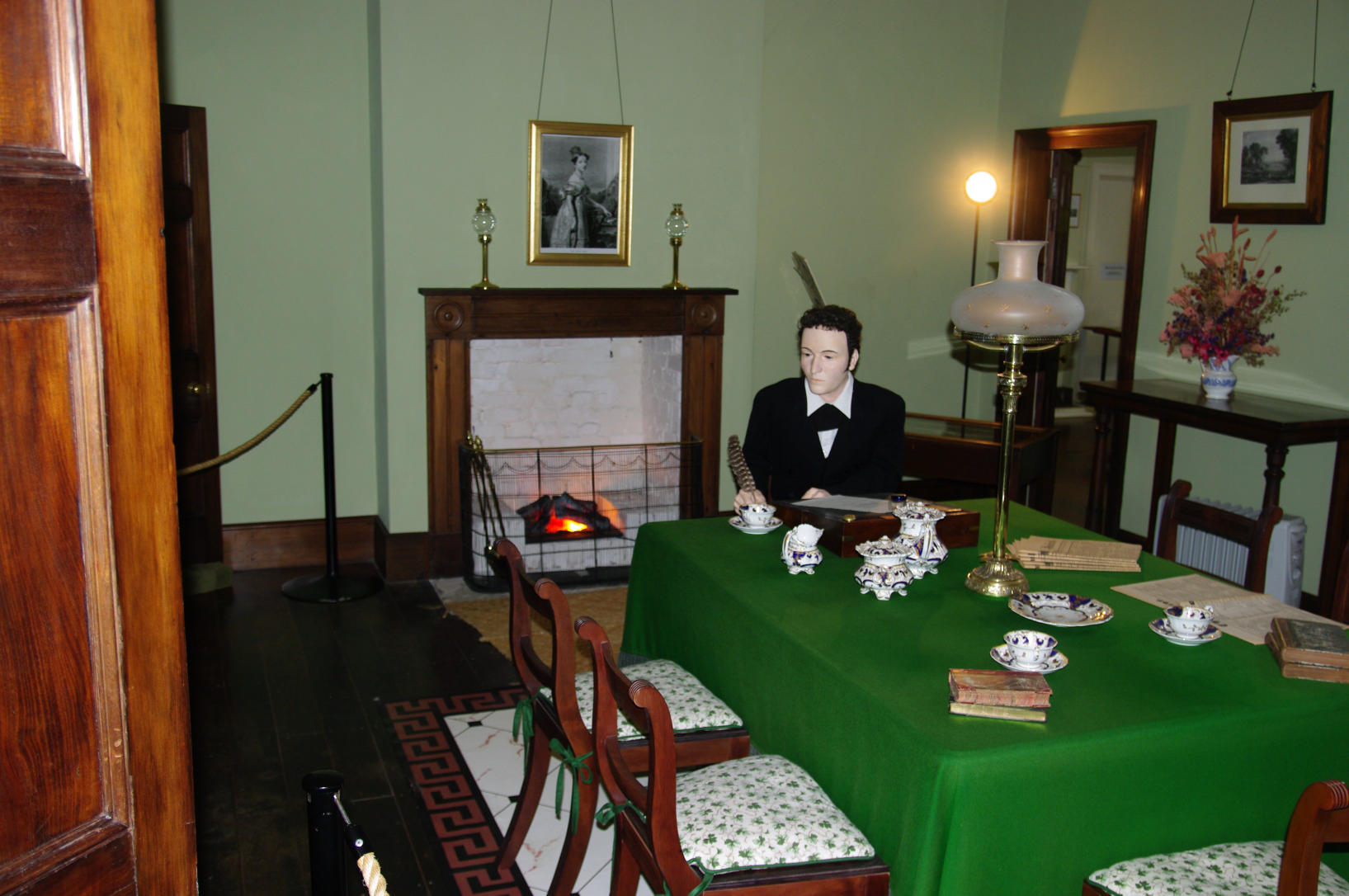 Recreation of the interior of Treaty House in Waitangi, New Zealand. Photo taken on November 10, 2009.