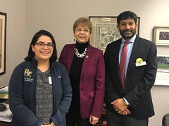 Rep. Zawistowski with Dr Khuram Ghumman from East Granby and one of his students Aida Martinez advocating on bills affecting general practice medicine