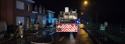DEERLIJK, 10-01-2019, badkamerbrand Desselgemse steenweg.