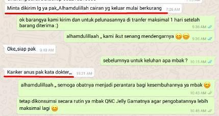 Testimoni QnC Jelly Gamat Atasi Penyakit Fastul Ani