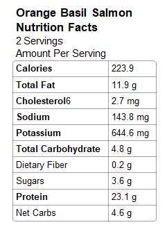 Nutrition: Salmon with Basil Orange Sauce