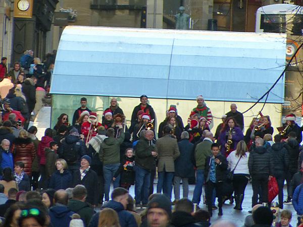 orchestre de Noël à Glasgow