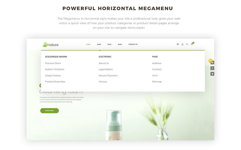 powerful vertical mega menu- Bos Nature - Skin Care and Beauty Spa