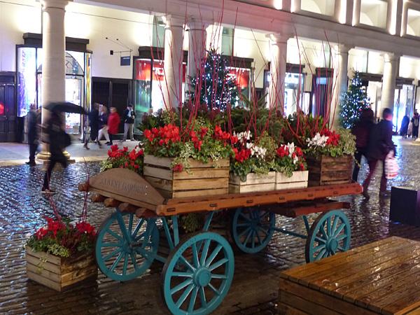chariot de fleurs à Covent Garden