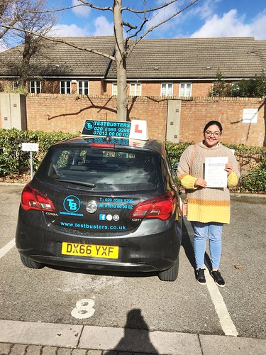 Congrats to Aida on passing her driving test this morning at Isleworth...Well done!!!!!🚗🚗🚗🚗🚗 | by testbusters