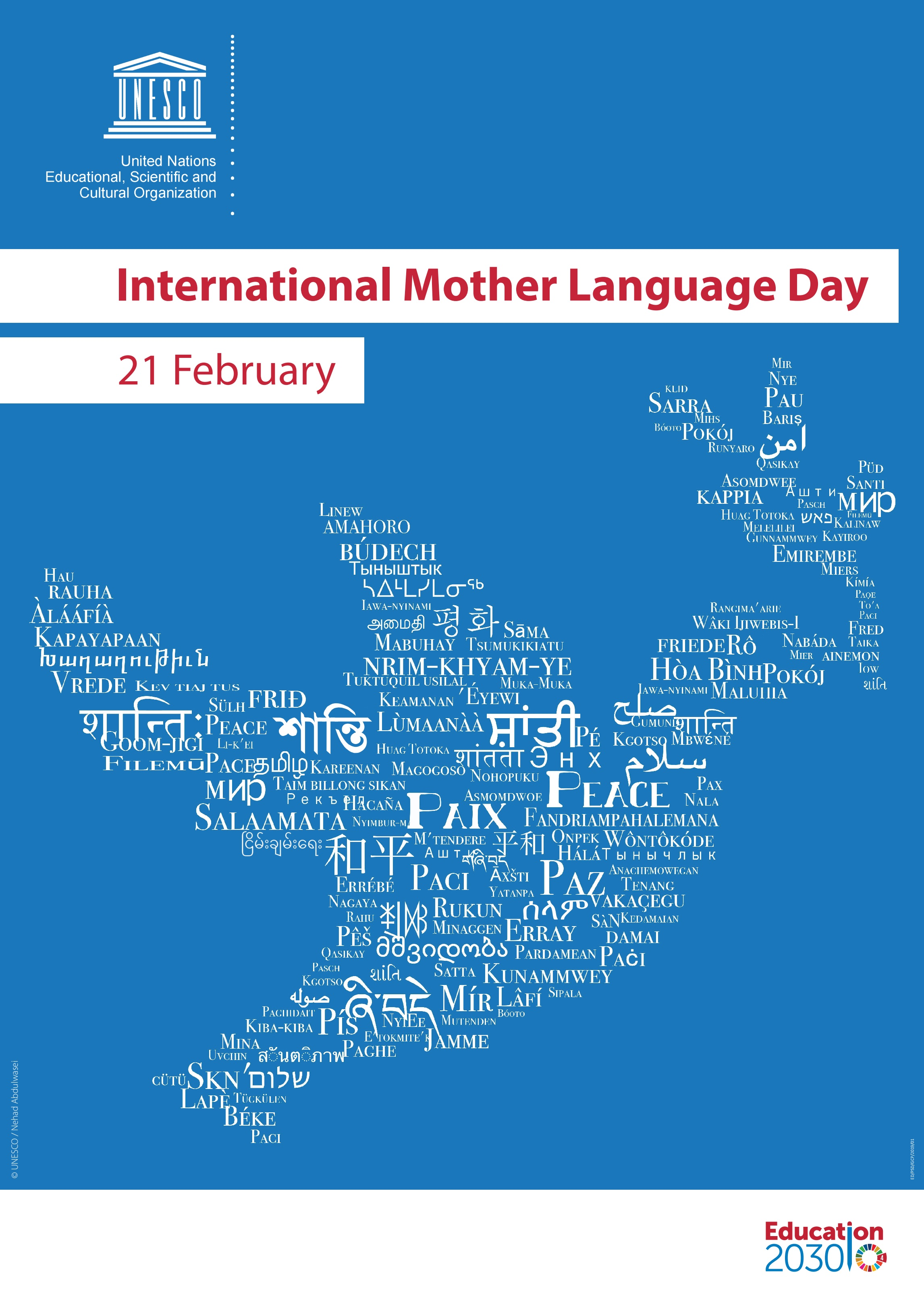 UNESCO Poster for International Mother Language Day 2019