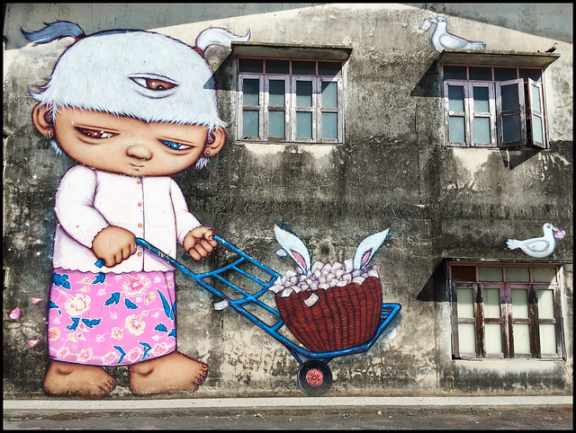 One of many great examples of street art in Phuket Town