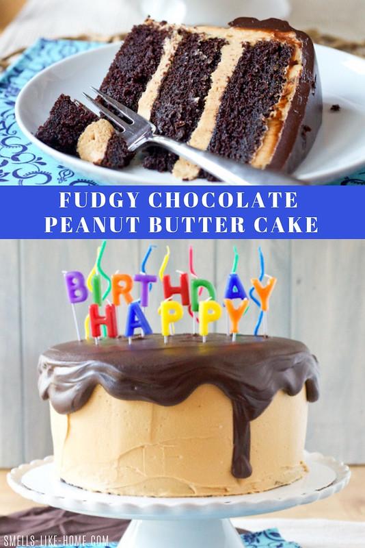 Fudgy Chocolate Peanut Butter Cake