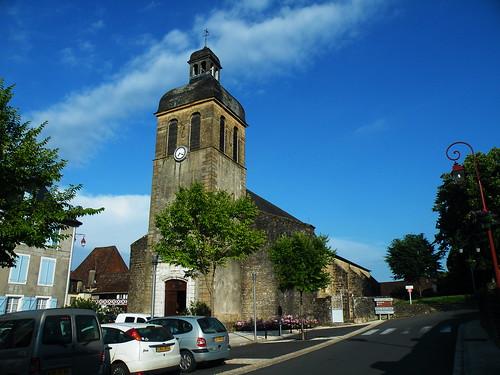 20090531 318 1110 Jakobus Navarrenx Kirche Turm Uhr